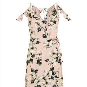 Topshop Dresses - Blush Floral Wrap Dress